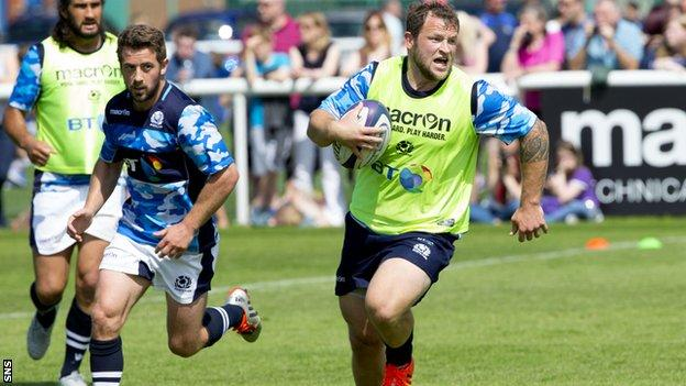 Ryan GRant in training for Scotland