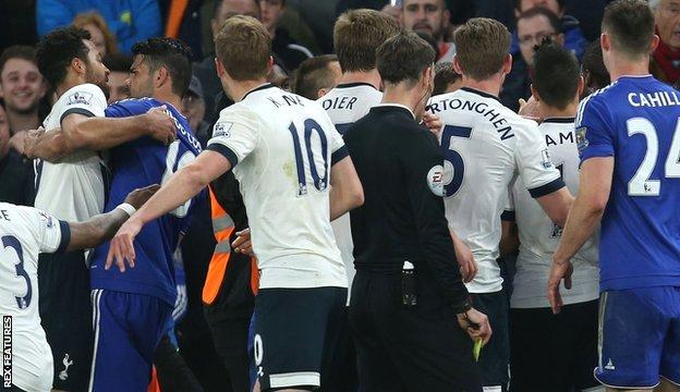 Tottenham and Chelsea melee