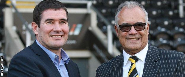 Burton manager Nigel Clough and chairman Ben Robinson
