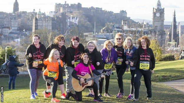 Sing in the City choir ready to take on the Great Edinburgh Winter Run