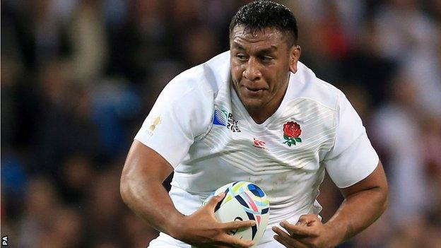 Mako Vunipola in action for England against Scotland