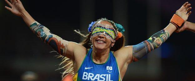 Brazilian sprinter Terezinha Guilhermina