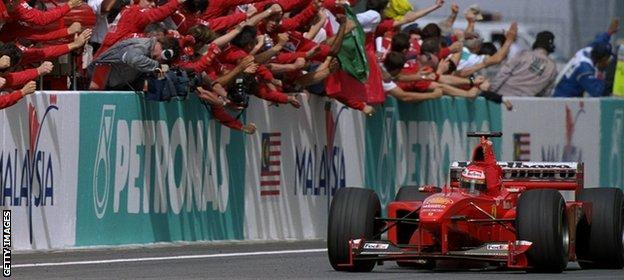 Eddie Irvine wins in 1999
