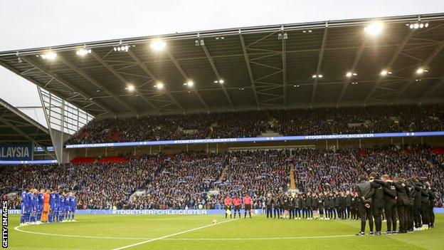 Minute's silence at Cardiff