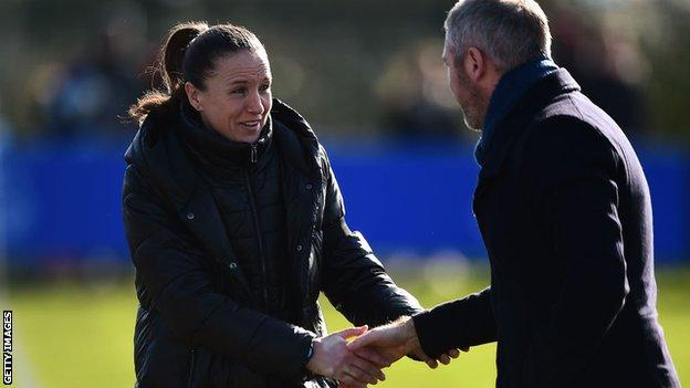 Casey Stoney and Willie Kirk