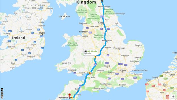 Just the 12-hour round trip for Sunderland's travelling supporters on Saturday..