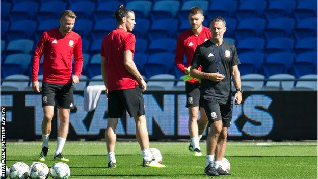 Wales manager Ryan Giggs has gathered his squad in Cardiff ahead of their Nations League games