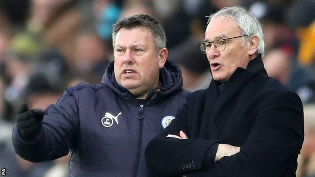 Craig Shakespeare (left) and Claudio Ranieri