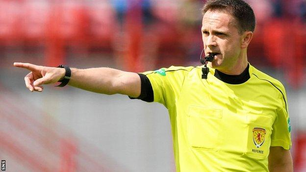 Crawford Allan is the head of referee operations at the Scottish FA