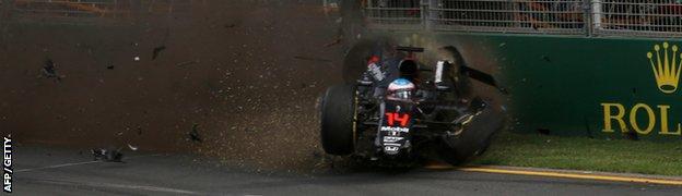 Alonso's crash in Australia