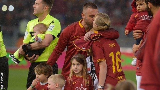 Daniele De Rossi and his family
