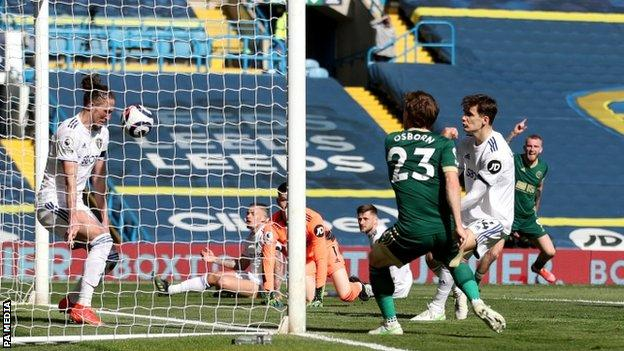 Ben Osborn scores against Leeds