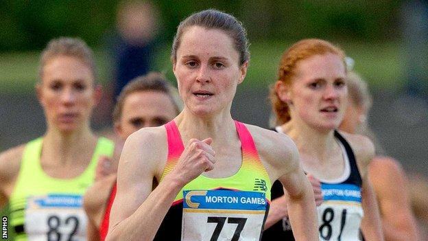 Ciara Mageean has set a new Irish indoor record for the 1500m