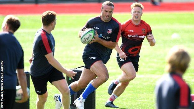 Jamie Roberts has already begun training with his new Dragons team-mates