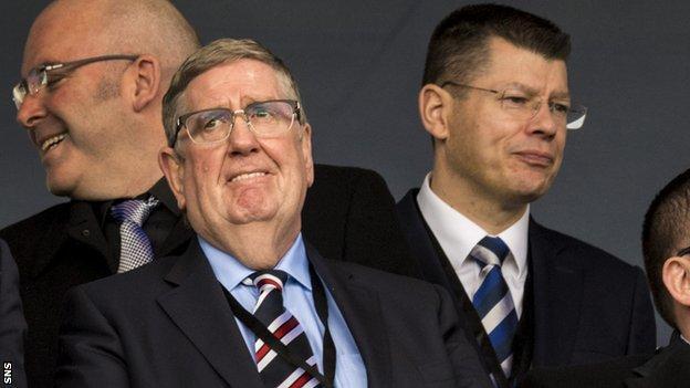 Rangers interim chairman Douglas Park and SPFL chief executive Neil Doncaster