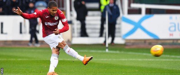 Simeon Jackson scores a penalty