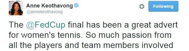 Anne Keothavong on Twitter