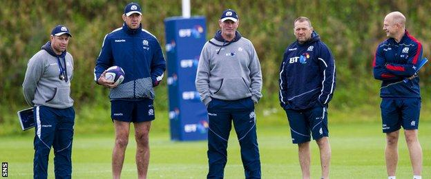 Scotland's coaching team