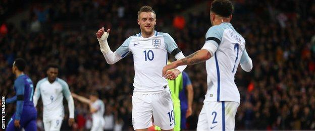 Rooney revealed that one of his sons has asked for an England shirt with Jamie Vardy's name on it