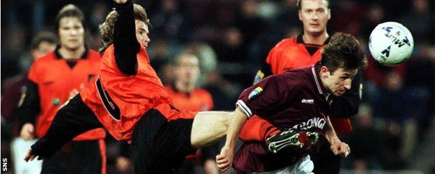 Neil McCann, right, had two spells with Hearts as a player