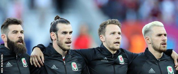 Wales line up