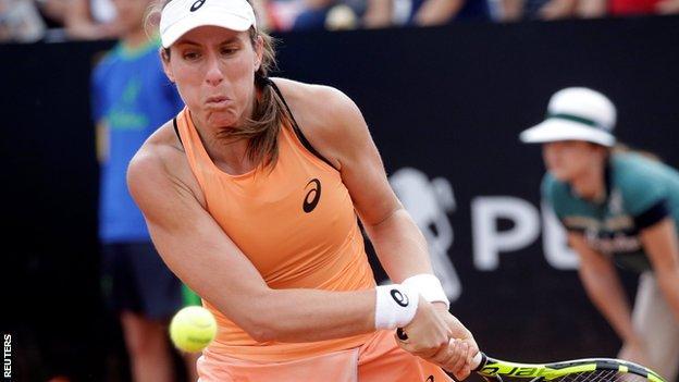 Johanna Konta out of Italian Open