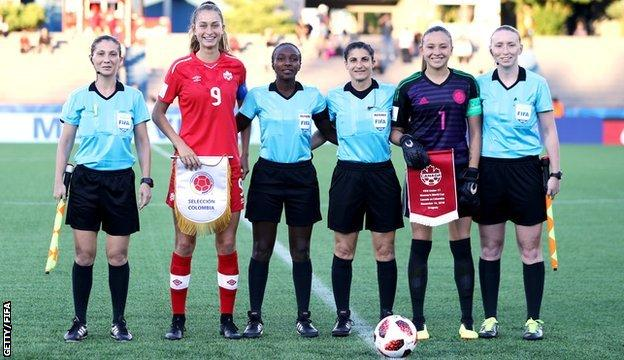 Kylie Cockburn and other referees and u17s Women's World Cup