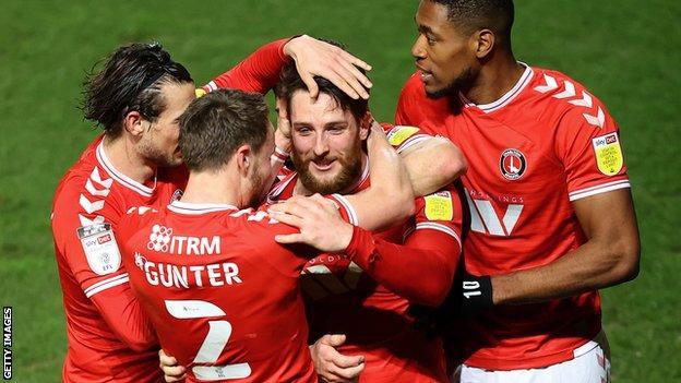 Charlton celebrate a goal