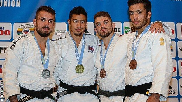 British Open medallists including Ashley McKenzie (second left)