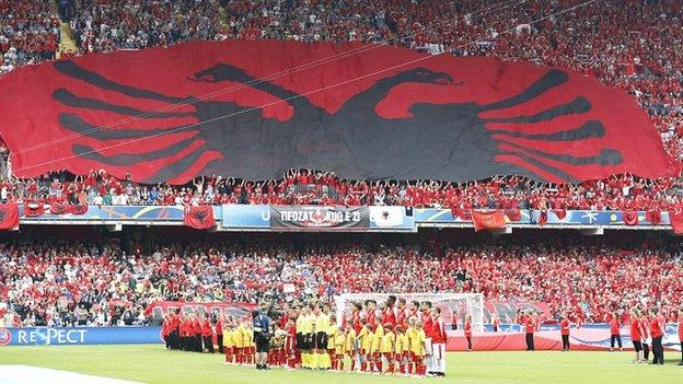 Albanian supporters