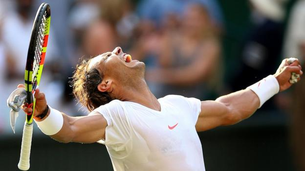 Image result for World number one Nadal reaches first Wimbledon quarter-final since 2011