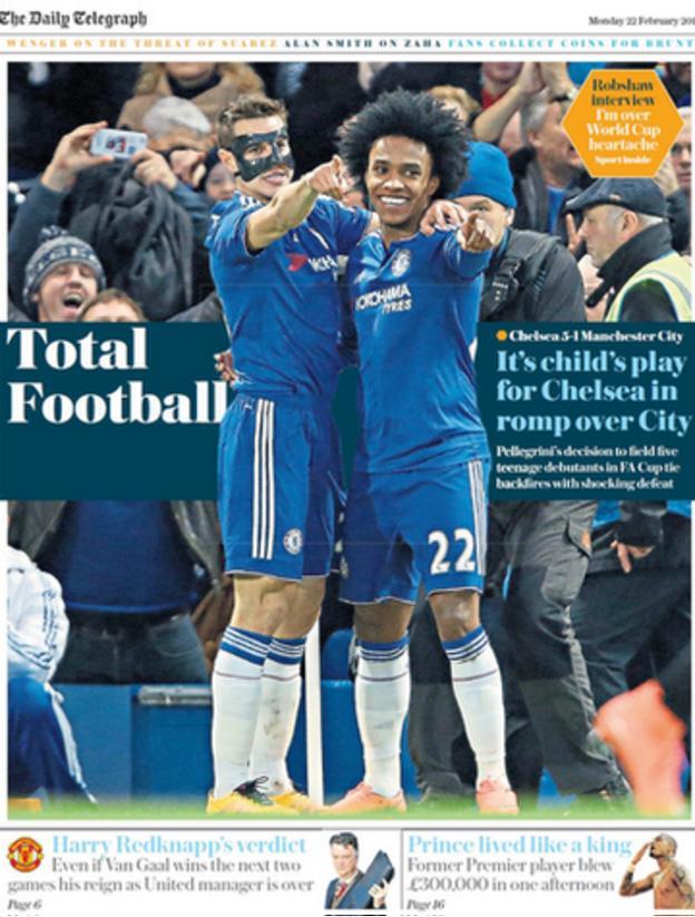 Monday's Daily Telegraph Sport