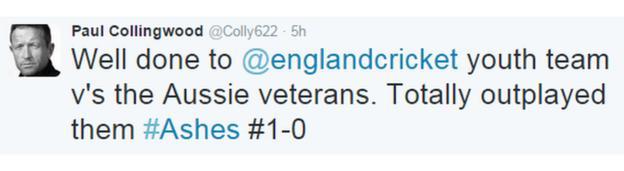 Paul Collingwood tweet
