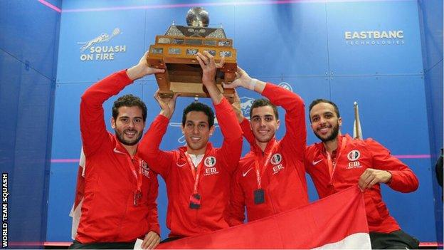 Egypt lift the World Team Championship trophy