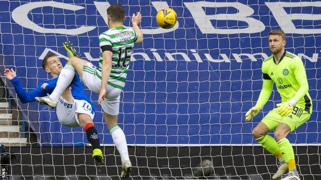 Steven Davis' superb acrobatic finish gave Rangers an early lead