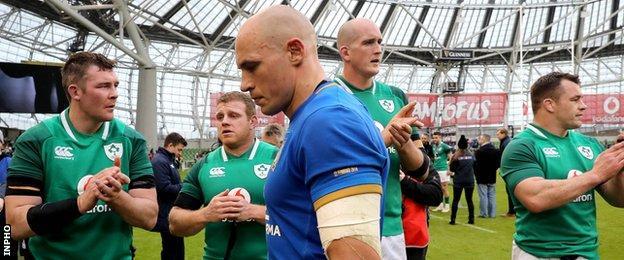 Italy skipper Sergio Parisse described Ireland as a great team