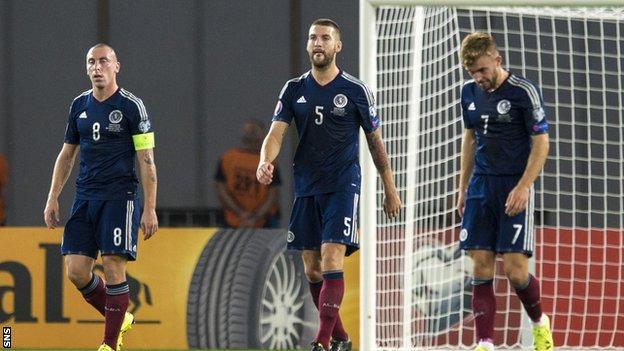 Scotland players in Georgia