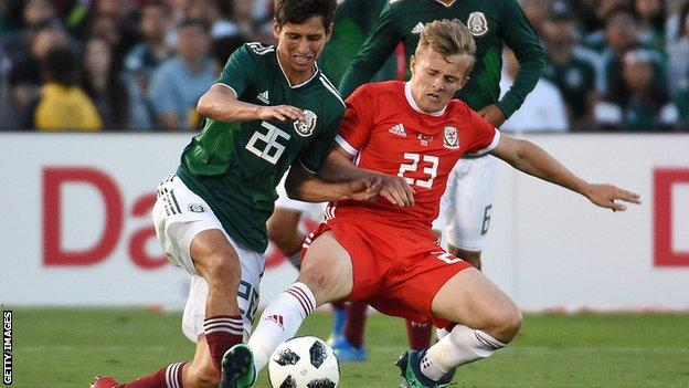 George Thomas in action against Mexico