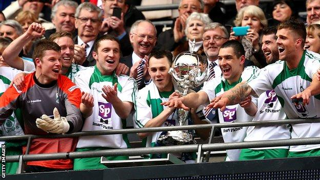North Ferriby United lift the FA Trophy in 2015