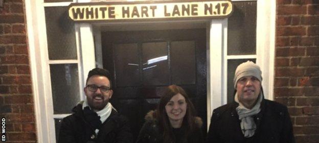 Ed Wood outside White Hart lane