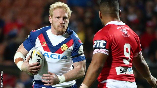 James Graham in action for Great Britain