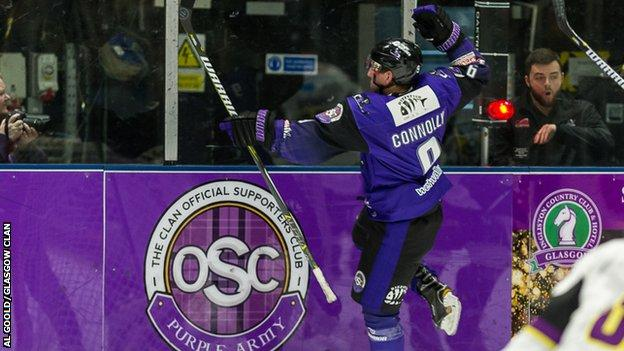 Glasgow Clan's Brendan Connolly scored four goals against Manchester Storm in their two meetings