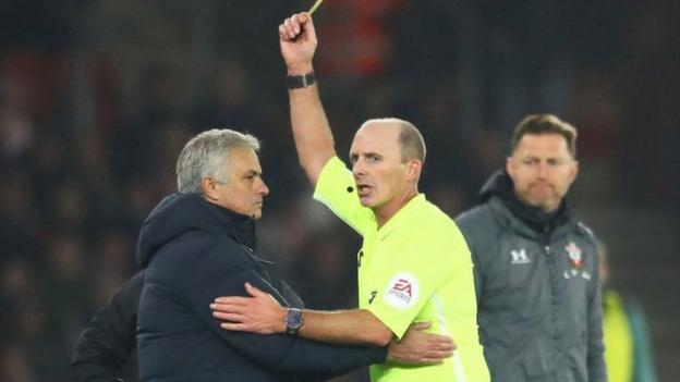 Jose Mourinho: Tottenham boss says he 'was rude with an idiot' before yellow card thumbnail