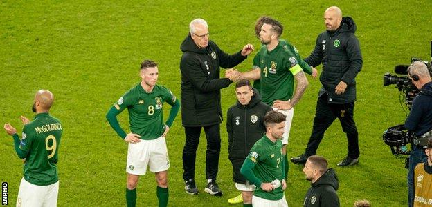 Republic of Ireland after draw with Denmark