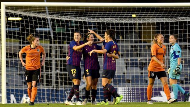 Glasgow City: Mistakes 'really hurt' Scottish champions v Barcelona - Scott Boot...