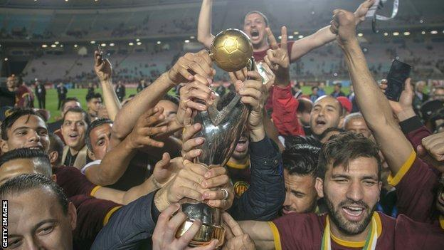 Esperance winning the Caf Champions League in 2019
