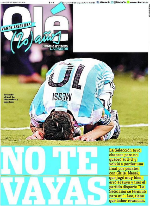 Ole newspaper front page