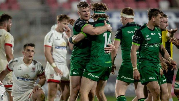Ulster 24-26 Connacht: Peter Sullivan's late try gives Connacht dramatic Rainbow Cup win thumbnail