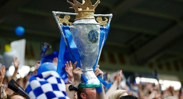 Leicester win the Premier League title