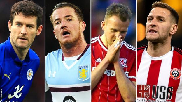 David Nugent, Ross McCormack, Jordan Rhodes and Billy Sharp